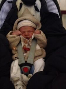 Das ist Theo am Tag der Krankenhaus-Entlassung...
