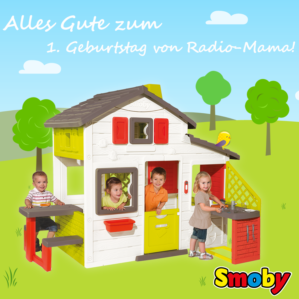 radiomamabirthday smoby spielhaus mit sommerk che f r. Black Bedroom Furniture Sets. Home Design Ideas